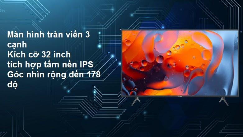 Internet Tivi Casper 32 inch 32HX6200 | Thiết kế sang trọng