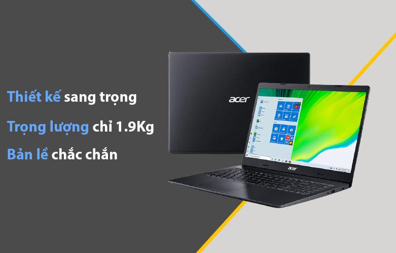 Laptop Acer Aspire 3 A315-57G-524Z | Thiết kế sang trọng, Bản lề chăc chắn