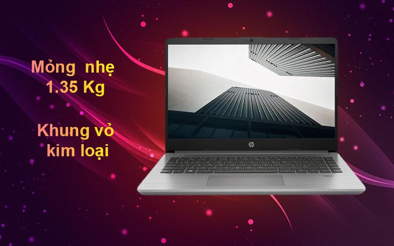 Laptop HP 340s G7 | Thiết kế mỏng nhẹ 1.35Kg, Khung vỏ kim loại