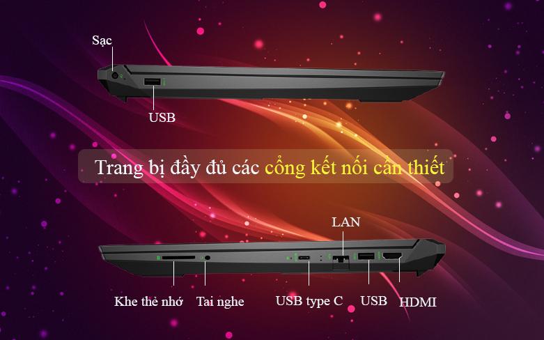 Laptop HP Pavilion Gaming 16-a0109TX 31J26PA | Nhiều cổng kết nối