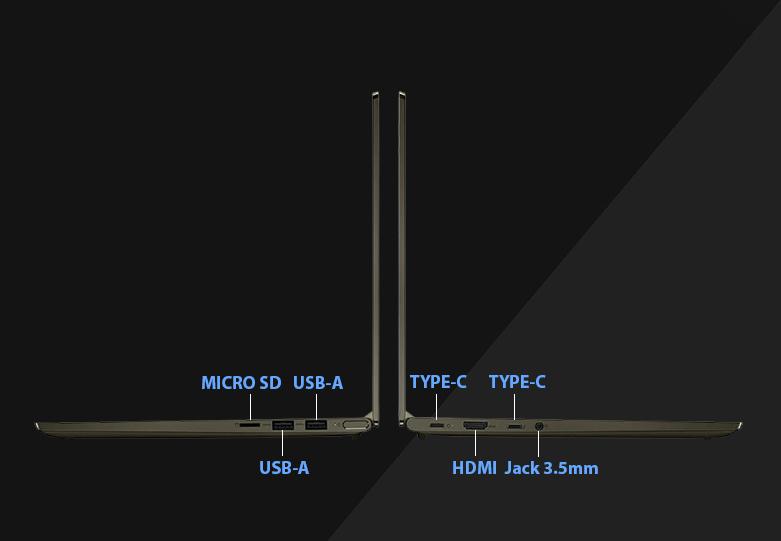 Laptop Lenovo Yoga Slim 714ITL05-82A3004FVN | Nhiều cổng kết nối hiện đại