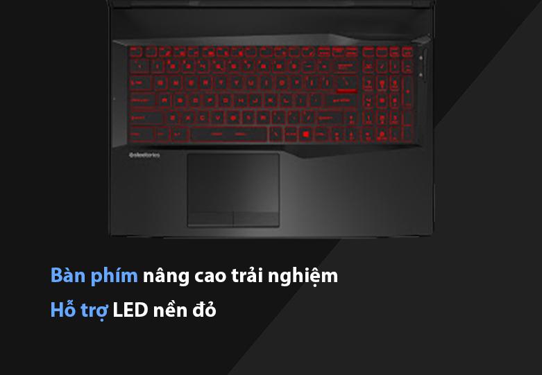 Laptop MSI Leopard GL75 10SDR-495VN | Bàn phím nâng cao trải nghiệm, Hỗ trợ LED nền đỏ
