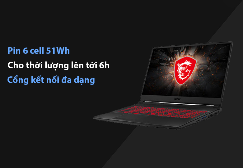 Laptop MSI Leopard GL75 10SDR-495VN | Dung lượng pin 6 cell 51 Wh