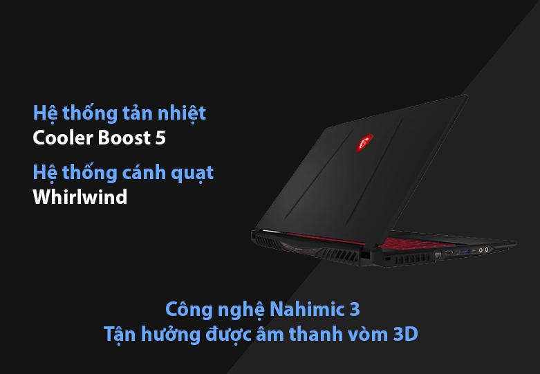 Laptop MSI Leopard GL75 10SDR-495VN | Hệ thống tản nhiệt hiện đại, Âm thanh vòm 3D