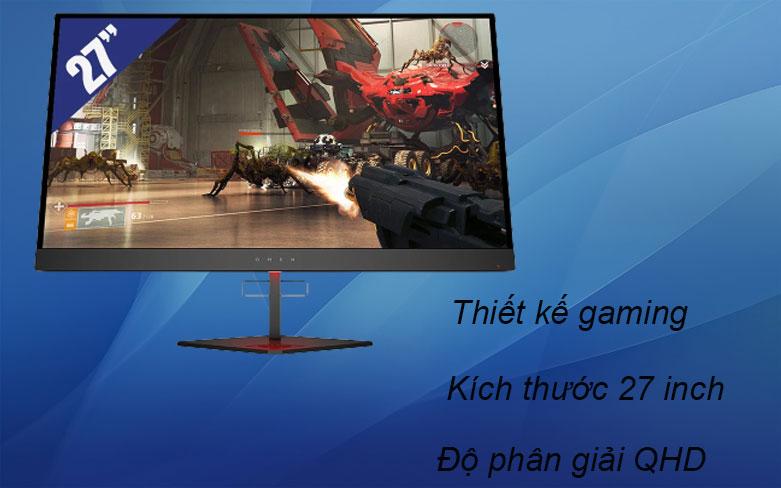 Màn hình LCD HP OMEN 27 inch 6FN08AA   Thiết kế gaming