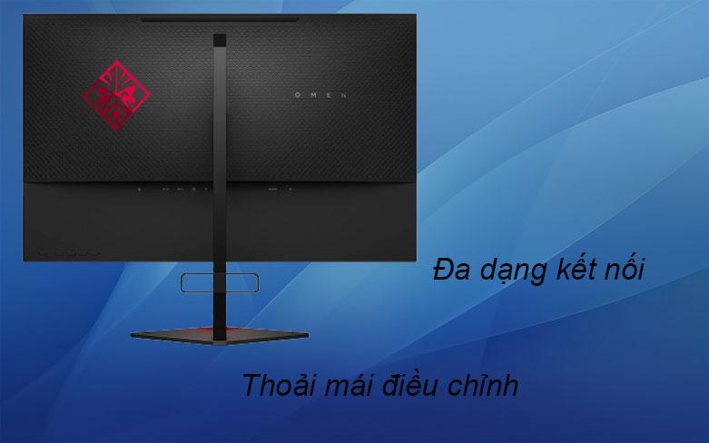 Màn hình LCD HP OMEN 27 inch 6FN08AA   Đa dạng kết nối, Thoải mái điều chỉnh
