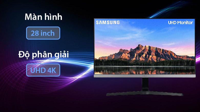 """Màn hình LCD Samsung 28"""" LU28R550UQEXXV   Màn hình 28 inch   Độ phân giải 4K"""