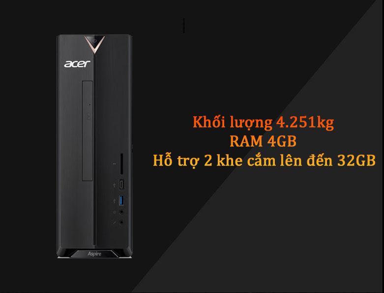 PC Acer AS XC-895 | Khối lượng nhẹ nhàng