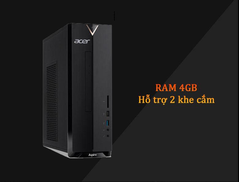 PC Acer AS XC-895 | Ram 4GB, Hỗ trợ khe cắm