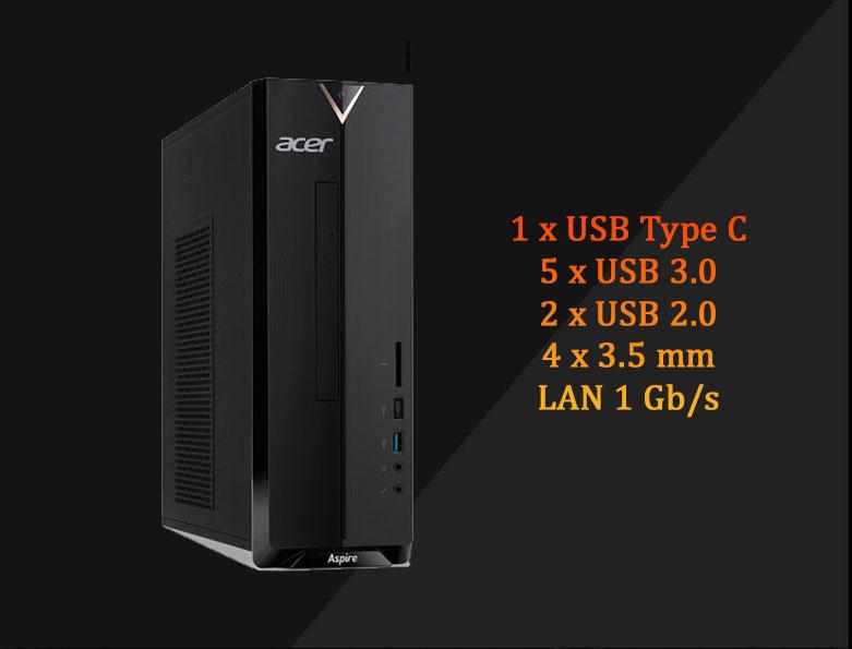 PC Acer AS XC-895 | Đa dạng cổng kết nối