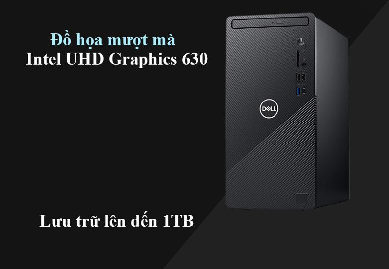 Máy tính để bàn PC Dell Inspiron 3881 MT 0K2RY1 | Đồ họa vượt trội | Lưu trữ 1Tb