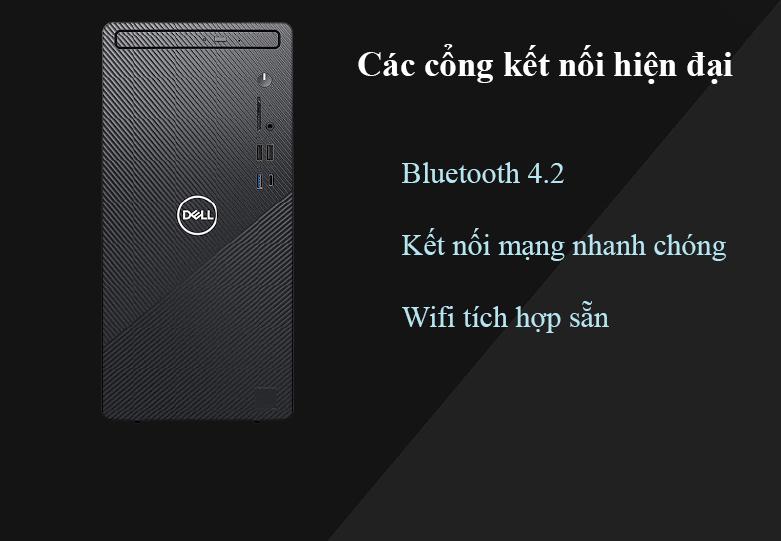 Máy tính để bàn PC Dell Inspiron 3881 MT 0K2RY1 | Nhiều cổng kết nối hiện đại