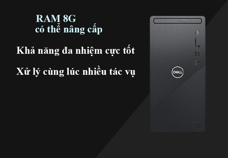 Máy tính để bàn PC Dell Inspiron 3881 MT 0K2RY1 | Nâng cấp dễ dàng