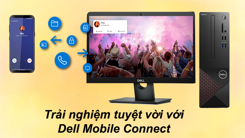 PC Dell Vostro 3681 SFF 42VT360002 | Trải nghiệm tuyệt với với Dell Mobile Connect