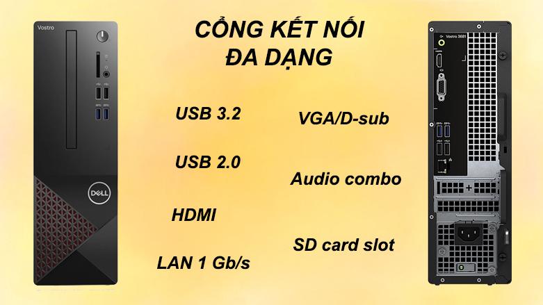 PC Dell Vostro 3681 SFF 42VT360002 | Cổng kết mối đa dạng