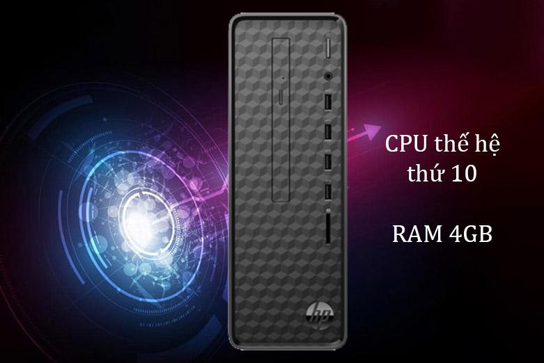 PC HP S01-pF1141d (i3 10100/4GB/1TB/Win10) (181A1AA)   CPU thế hệ thứ 10, Ram 4GB