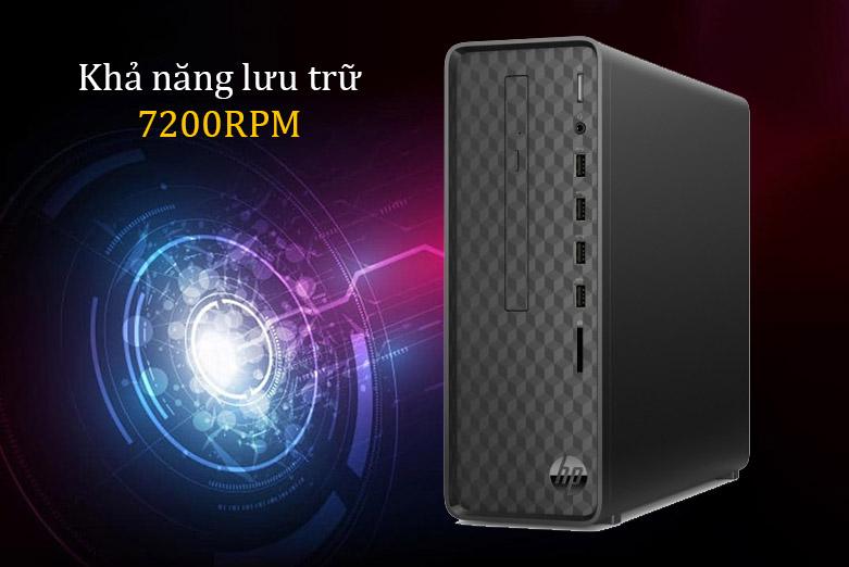 PC HP S01-pF1141d (i3 10100/4GB/1TB/Win10) (181A1AA)   Khả năng lưu trữ 7200RPM