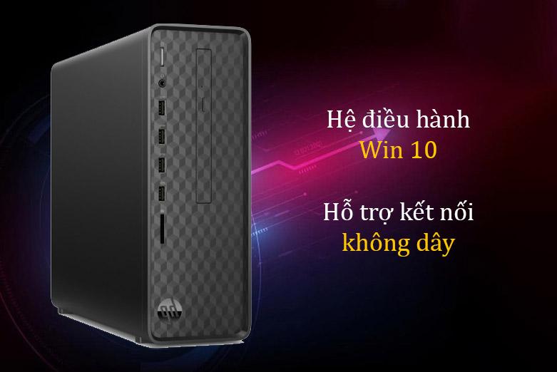 PC HP S01-pF1141d (i3 10100/4GB/1TB/Win10) (181A1AA)   Hệ điều hành Wn 10, Hỗ trợ kết nối không dây