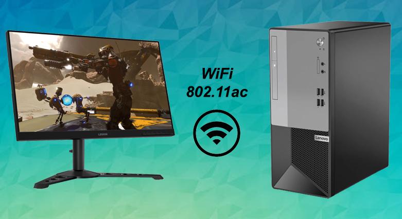 Máy tính để bàn Lenovo V50t-13IMB 11HD0011VA   Kết nối WiFi 802.11ac
