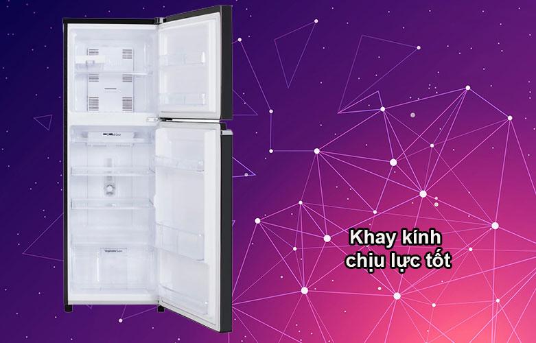 Tủ lạnh Panasonic Inverter 188 lít NR-BA229PKVN   Khay kính chịu lực tốt