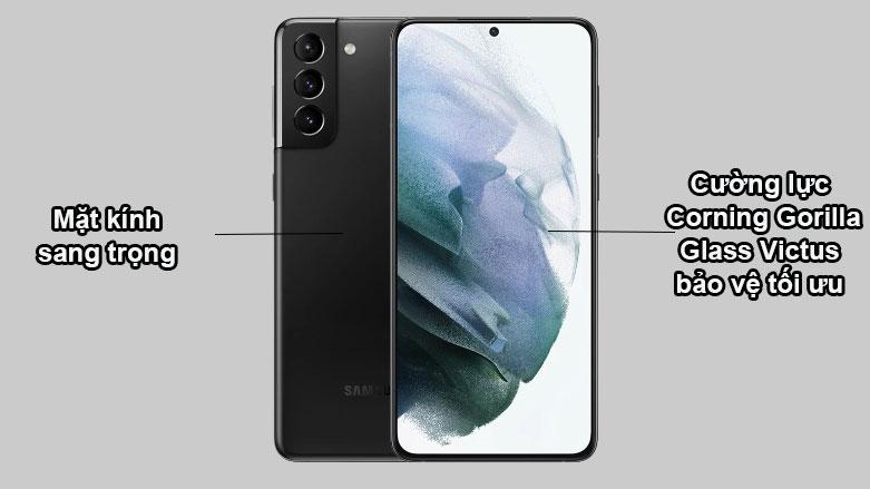 Samsung Galaxy S21+ 5G (8+128GB) SM-G996BZKDXXV | Mặt kính sang trọng, Cương lực Corning Gorilla Glass Victus bảo vệ tối ưu