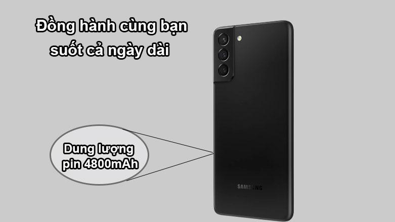Samsung Galaxy S21+ 5G (8+128GB) SM-G996BZKDXXV | Dung lượng pin 4800mAh
