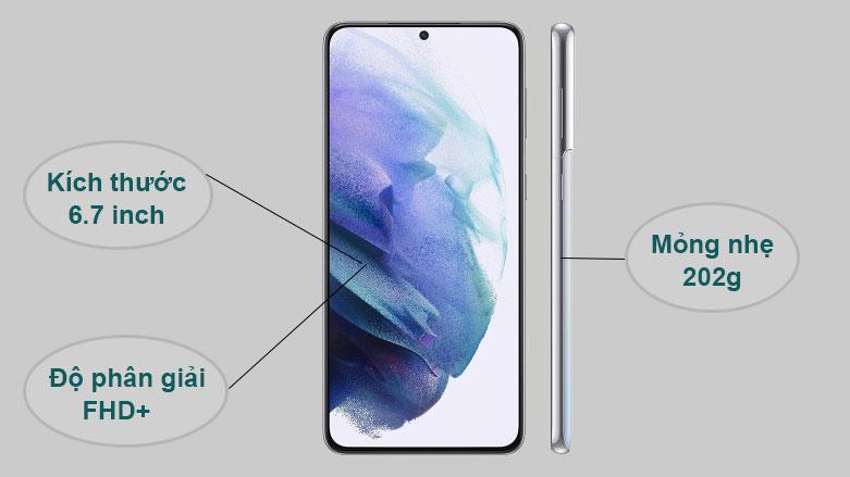 Samsung Galaxy S21+ 5G | Kích thước 6.7 inch, Mỏng nhẹ 202g