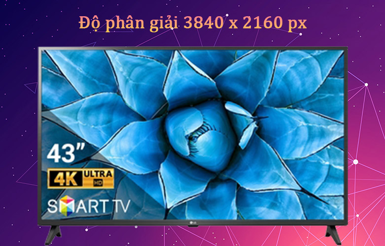Smart Tivi LG 4K 43 inch 43UN7300PTC | Độ phân giải gấp 4 lần Full HD