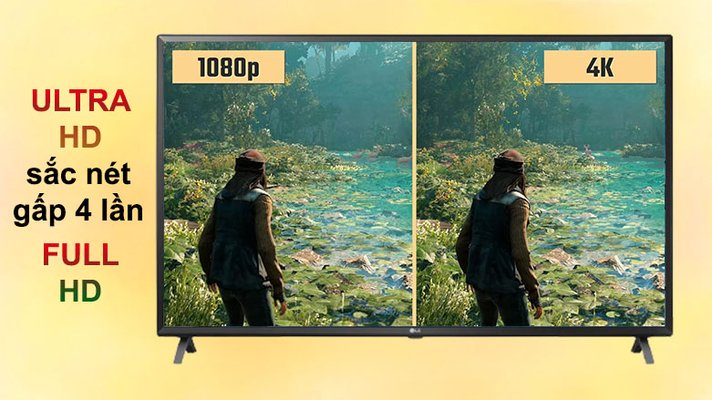 Smart Tivi LG 4K 49 inch 49UN7300PTC | Độ phân giải 4K