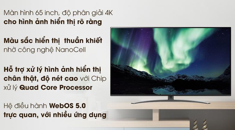 Smart Tivi LG 4K 65 inch 65NANO81TNA | Hình ảnh sắc nét