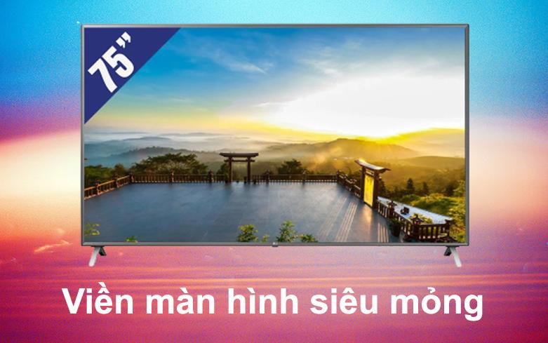 Smart Tivi LG 4K 75 inch 75UN8000PTB   Viền màn hình siêu mỏng