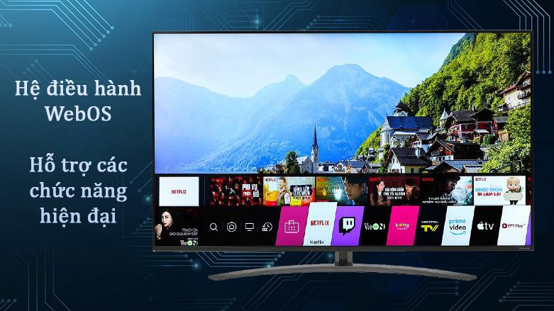 Smart Tivi NanoCell LG 4K 49 inch 49NANO86TNA | Hệ điều hành WebOS, Hỗ trợ các chức năng hiện đại