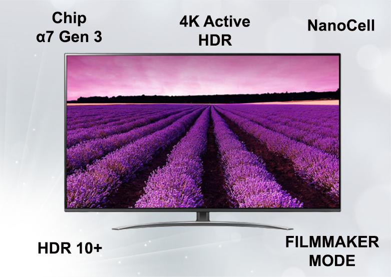Smart Tivi NanoCell LG 4K 55 inch 55NANO86TNA | Công nghệ hình ảnh chất lượng cao
