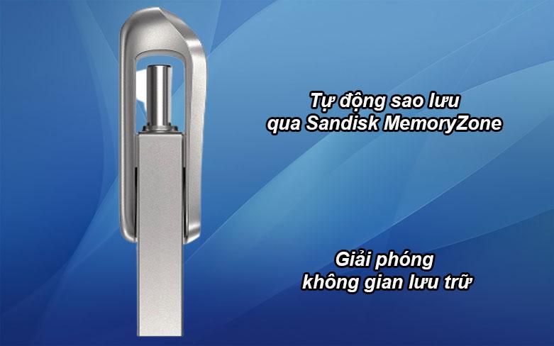 USB 3.1 Sandisk Ultra Dual Drive Luxe 32GB - SDDDC4-032G-G46| Tự động sao lưu, Giải phóng không gian lưu trữ