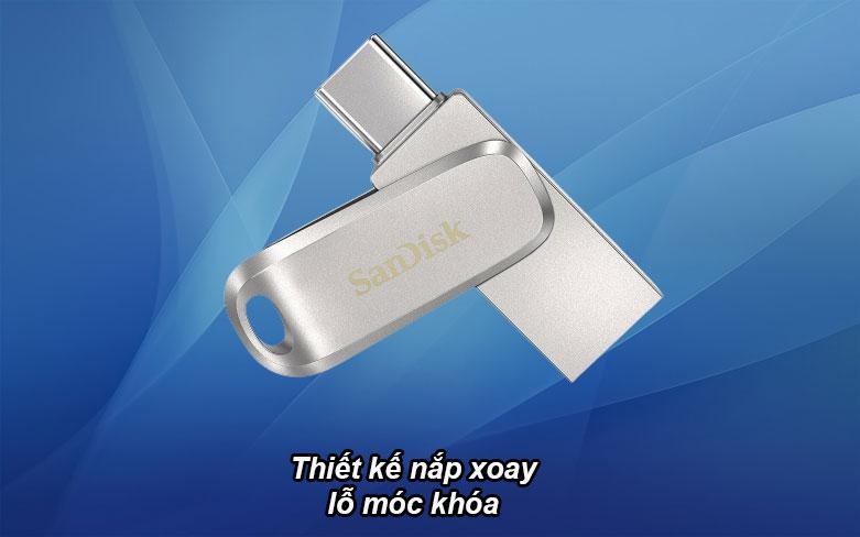USB 3.1 Sandisk Ultra Dual Drive Luxe 32GB - SDDDC4-032G-G46 | Thiết kế nắp xoay lỗ móc khóa
