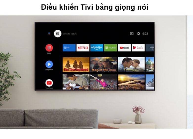 Android Tivi Sony 4K 55 inch KD-55X8050H | Điều khiển Tivi bằng giọng nói