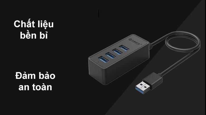 Hub USB 4 ports 3.0 Orico W5P-U3-30 | Chất liệu bền bỉ, Đảm bảo an toàn