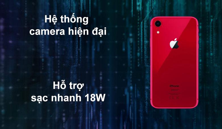 iPhone XR RED 64GB MH6P3VN/A | Hệ thống camera hiện đại | Hỗ trợ sạc nhanh 18W