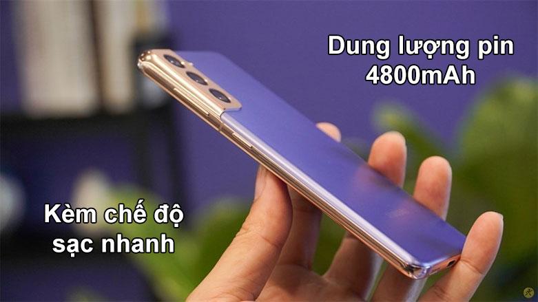 Samsung Galaxy S21+ 5G | Dung lượng pin 4800 mAh, Trang bị chế độ sạc nhanh