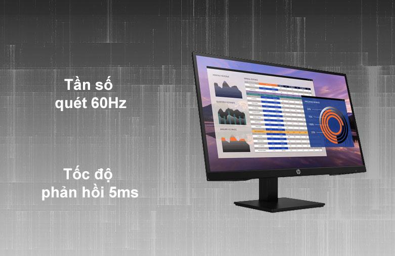 Màn hình LCD HP 27 inch P27h G4_7VH95AA | Tân số quét 60 Hz | Tốc độ phản hồi 5 ms