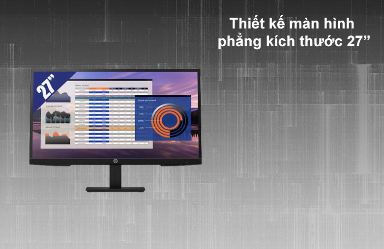 Màn hình LCD HP 27 inch P27h G4_7VH95AA | Thiết kế màn hình phẳng 27 inch