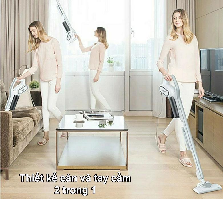 Máy hút bụi cầm tay Deerma-Deerma Vacuum Cleaner DX700 | Thiết kế cán và tay cầm 2 trong 1