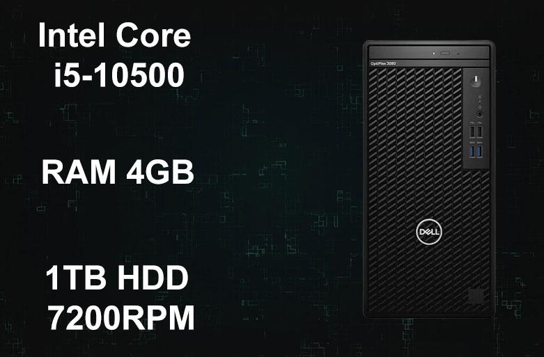 PC Dell OptiPlex 3080 MT | Chip Intel Core i5-10500, RAM 4GB, ổ cứng 1TB HDD 7200RPM