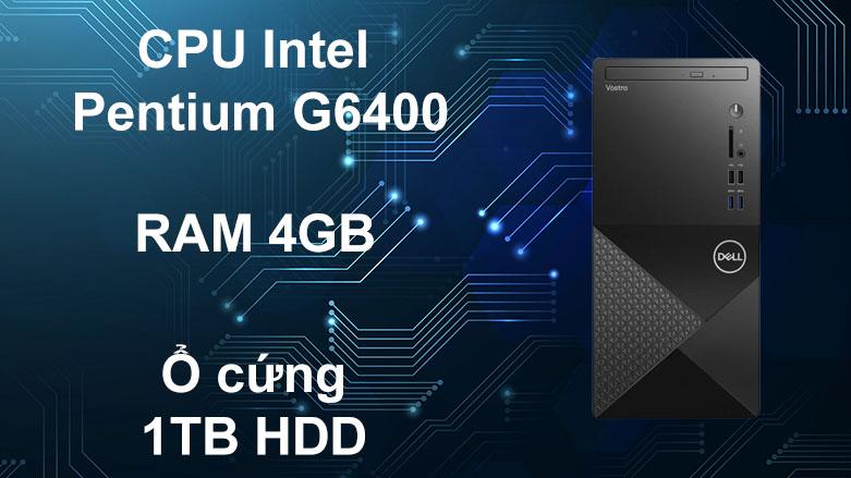 PC Dell Vostro 3888 MT | CPU Intel Pentium G6400, RAM 4GB DDR4, ổ cứng 1TB HDD