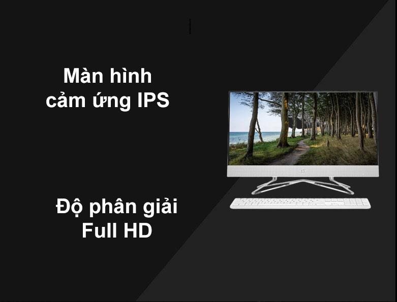 PC HP AIO 24-df0039d   Màn hình cảm ứng IPS, Độ phân giải Full HD