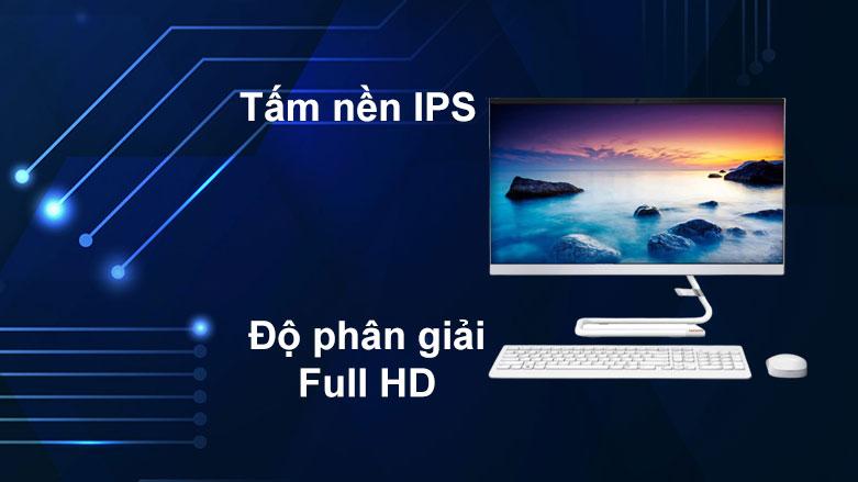 PC Lenovo AIO IdeaCentre 3 24IIL5 | Tấm nền IPS, Độ phân giaỉ Full HD