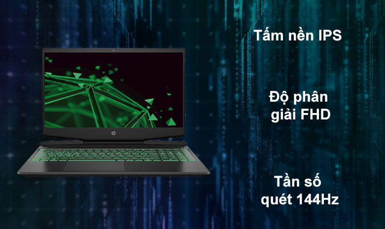 Laptop HP Pavilion Gaming 15-dk1086TX | Tấm nền IPS, Độ phân giải FHD