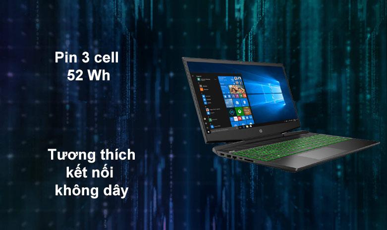Laptop HP Pavilion Gaming 15-dk1086TX | Pin 3 Cell 52 Wh, Tương thích kêt nối không dây