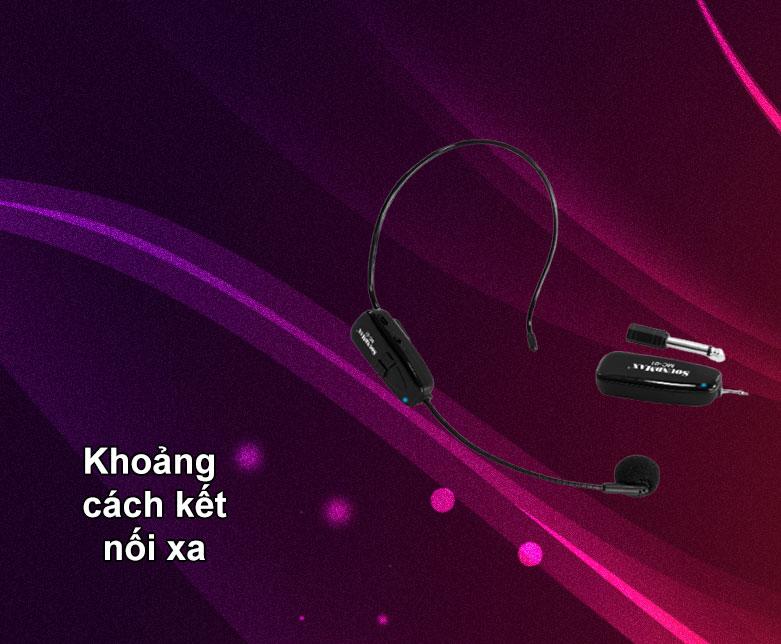 Micro không dây Soundmax MC-01   Khoảng cách kết nối xa