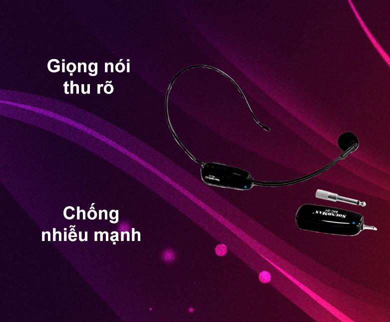Micro không dây Soundmax MC-01   Giọng nói thu rõ   Chống nhiễu mạnh